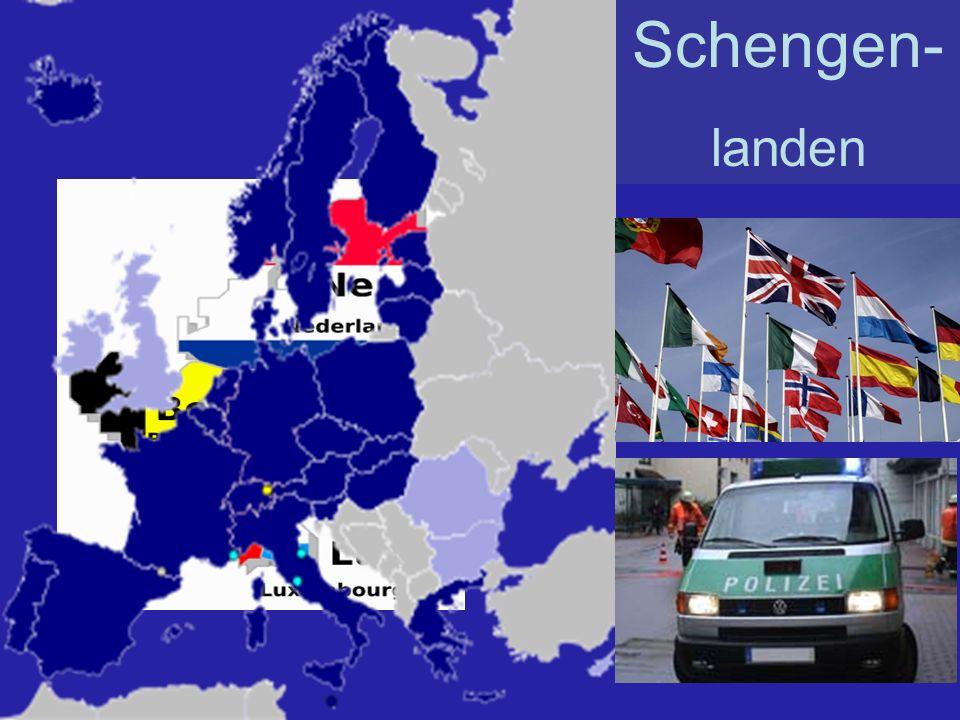 Schengen- landen België Denemarken Duitsland Estland Finland Frankrijk Griekenland Hongarije Italië Letland Litouwen Luxemburg Malta Nederland Noorwegen Oostenrijk Polen Portugal Slovenië Slowakije Spanje Tsjechië IJsland Zweden Zwitserland