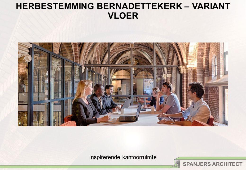 Inspirerende kantoorruimte HERBESTEMMING BERNADETTEKERK – VARIANT VLOER