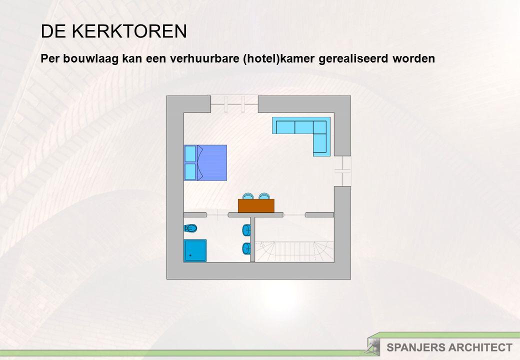 DE KERKTOREN Per bouwlaag kan een verhuurbare (hotel)kamer gerealiseerd worden