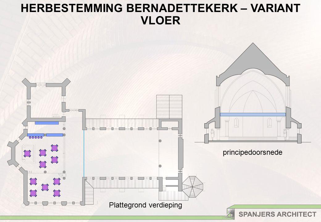Plattegrond verdieping principedoorsnede HERBESTEMMING BERNADETTEKERK – VARIANT VLOER