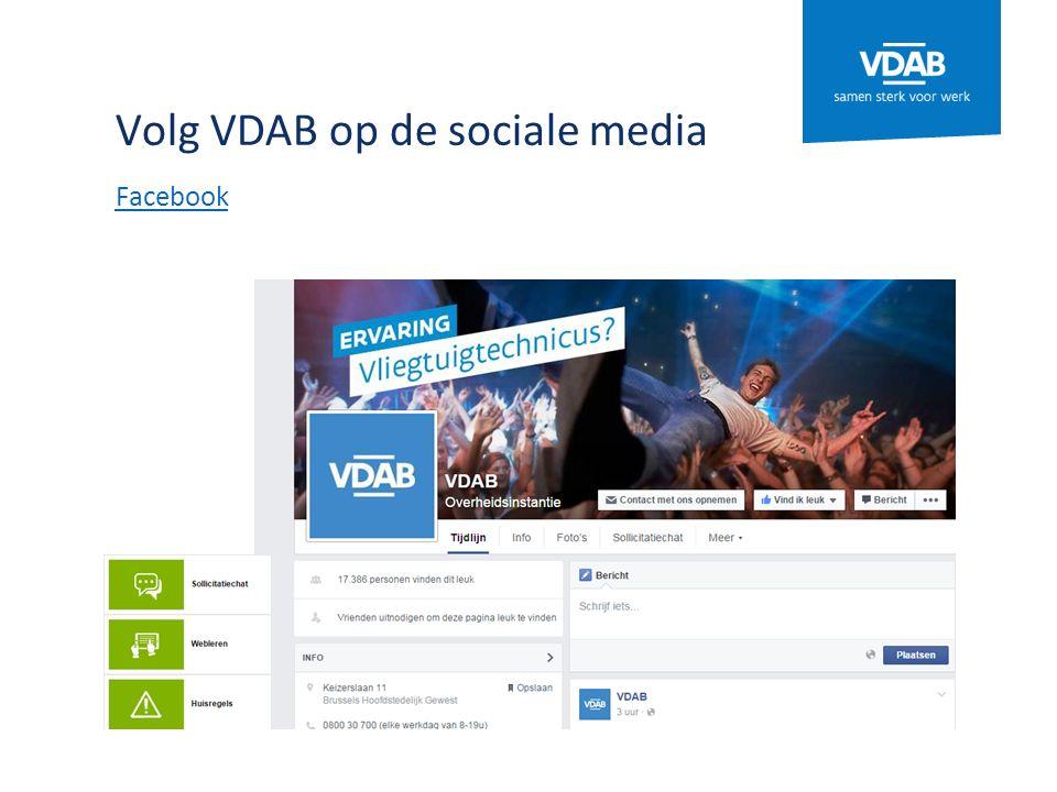 Volg VDAB op de sociale media Facebook
