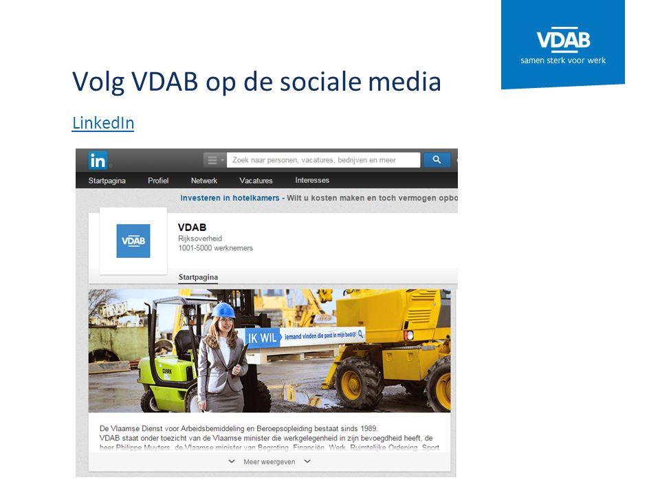 Volg VDAB op de sociale media LinkedIn