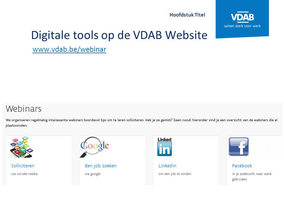 Alle filmpjes van VDAB www.vdab.tv Hoofdstuk Titel
