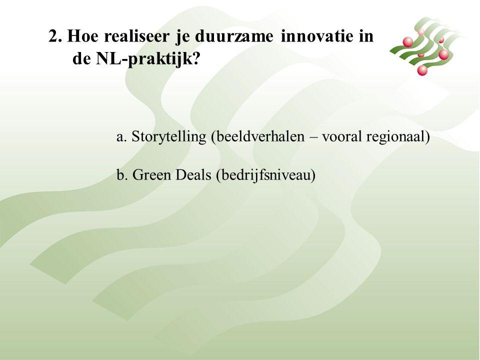 2. Hoe realiseer je duurzame innovatie in de NL-praktijk.