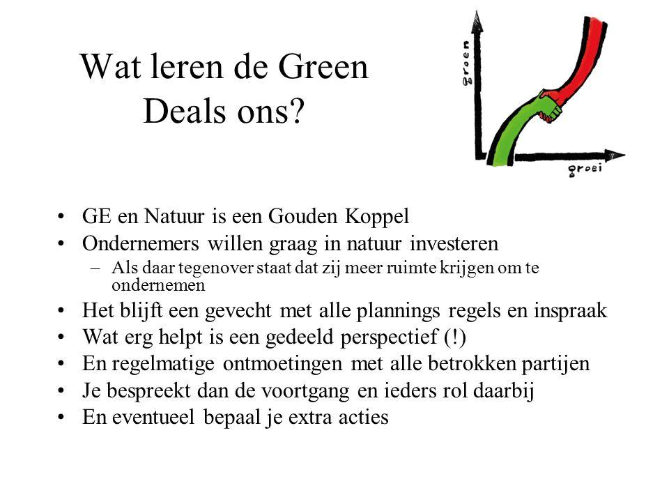 Wat leren de Green Deals ons.