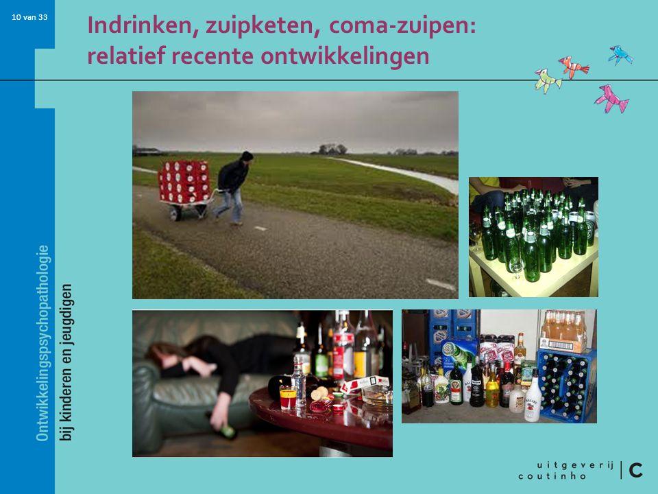 10 van 33 Indrinken, zuipketen, coma-zuipen: relatief recente ontwikkelingen