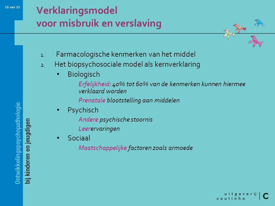 16 van 33 Verklaringsmodel voor misbruik en verslaving 1.