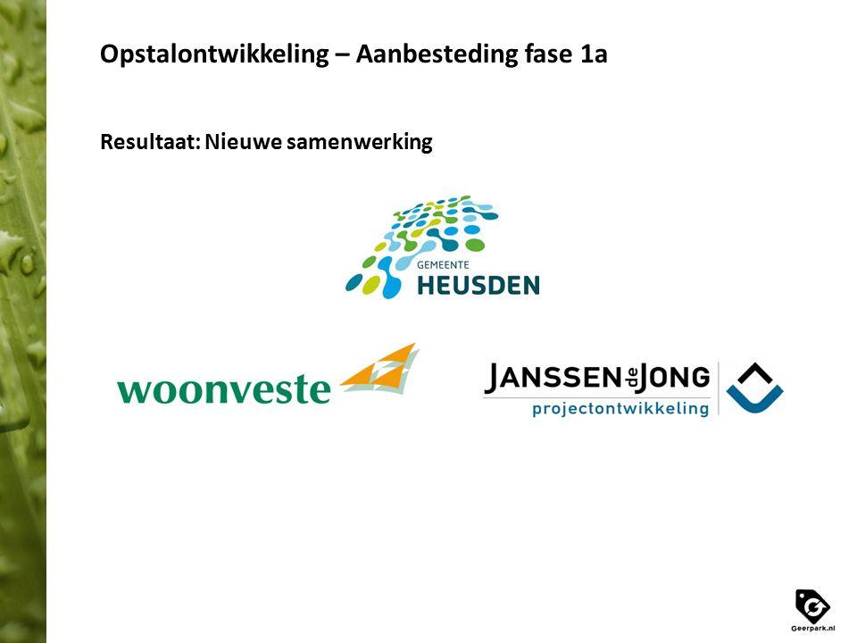 Opstalontwikkeling – Aanbesteding fase 1a Resultaat: Nieuwe samenwerking