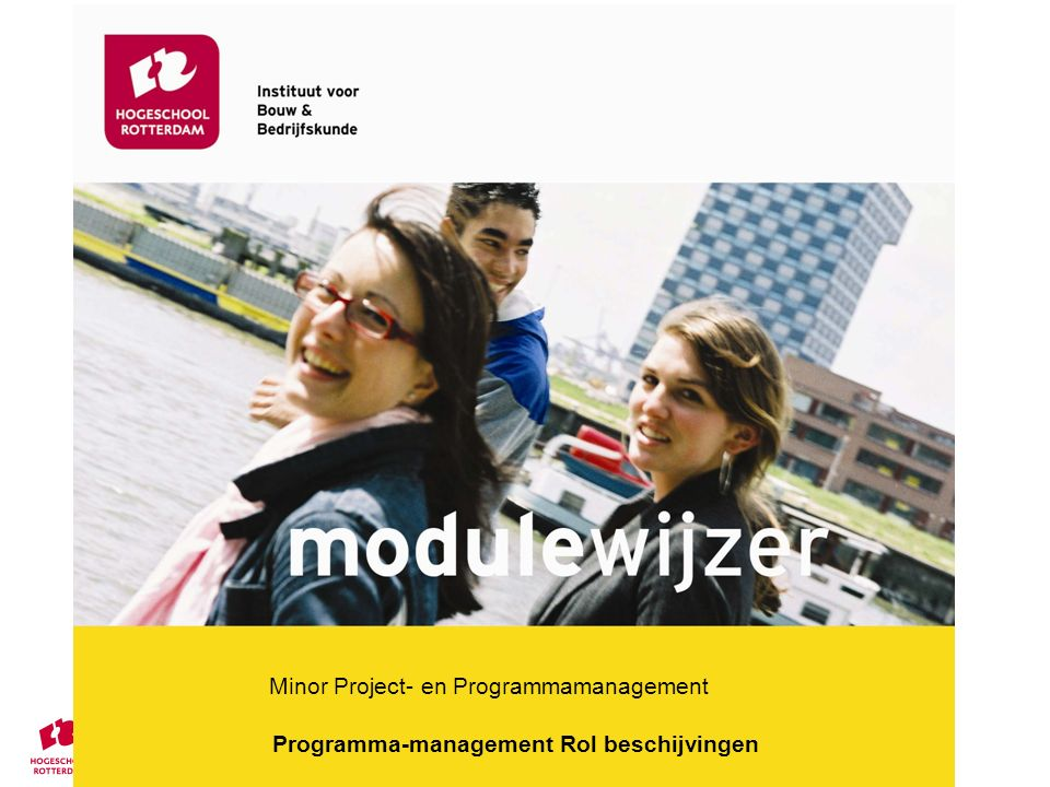 Minor Project- en Programmamanagement Programma-management Rol beschijvingen