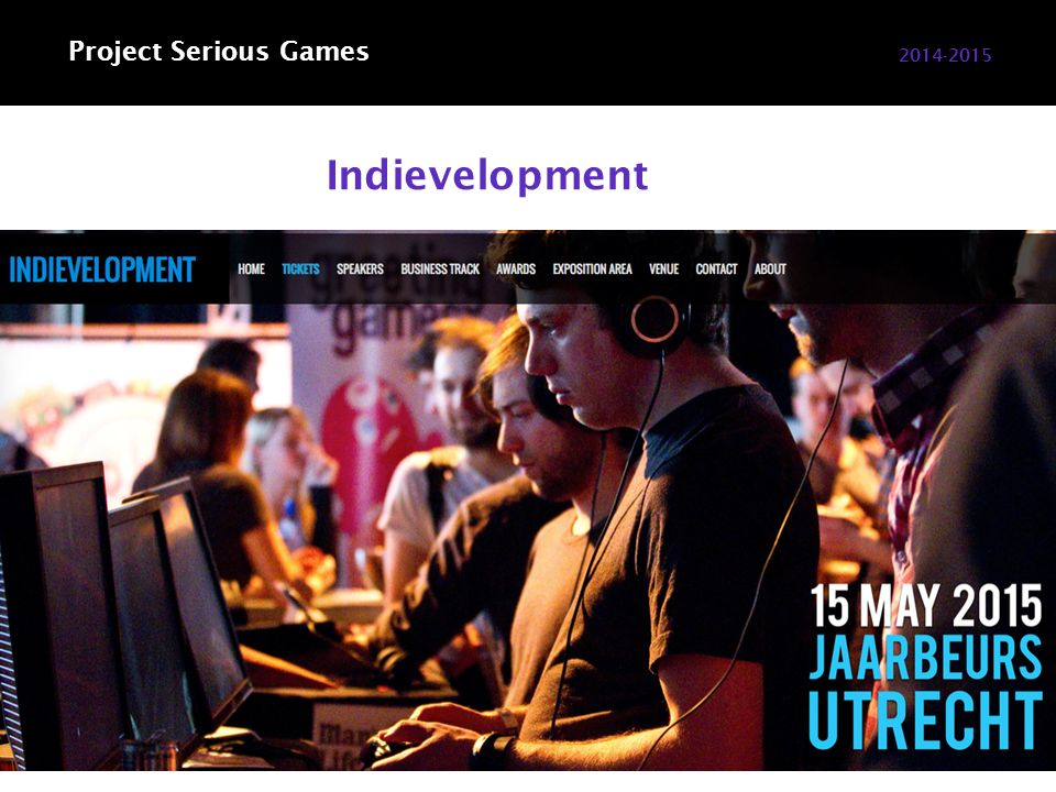 Indievelopment 2014-2015 Project Serious Games