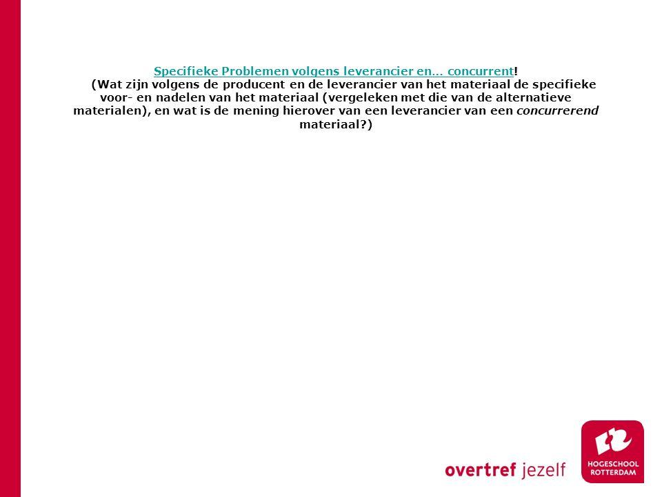 Specifieke Problemen volgens leverancier en… concurrentSpecifieke Problemen volgens leverancier en… concurrent.