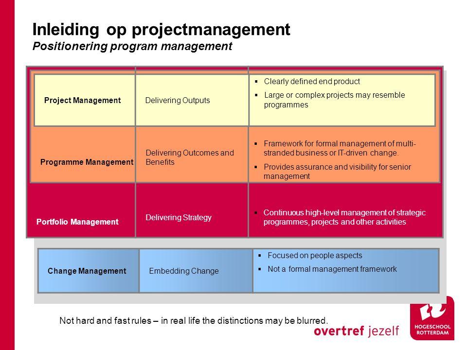 Projectvoorbereiding Projectinrichting Implementatie Subproject 1 - ontwerp - voorbereiding - realisatie Projectvoorbereiding Projectinrichting Ontwerp Voorbereiding Realisatie Implementatie Inleiding op projectmanagement Faseringsvorm: subprojecten