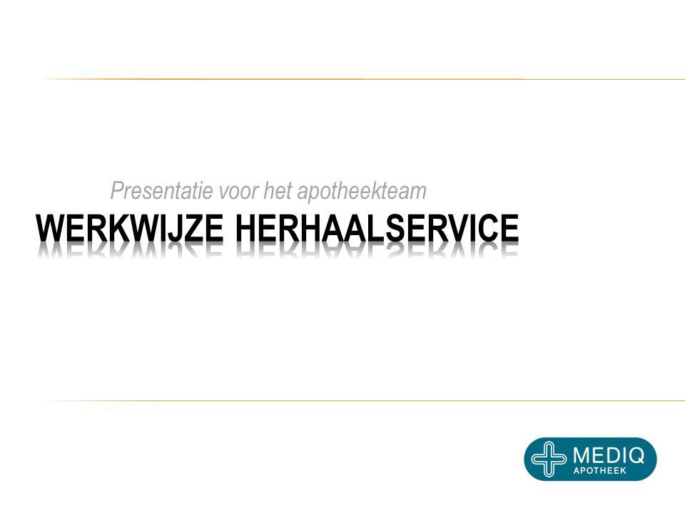 Presentatie voor het apotheekteam