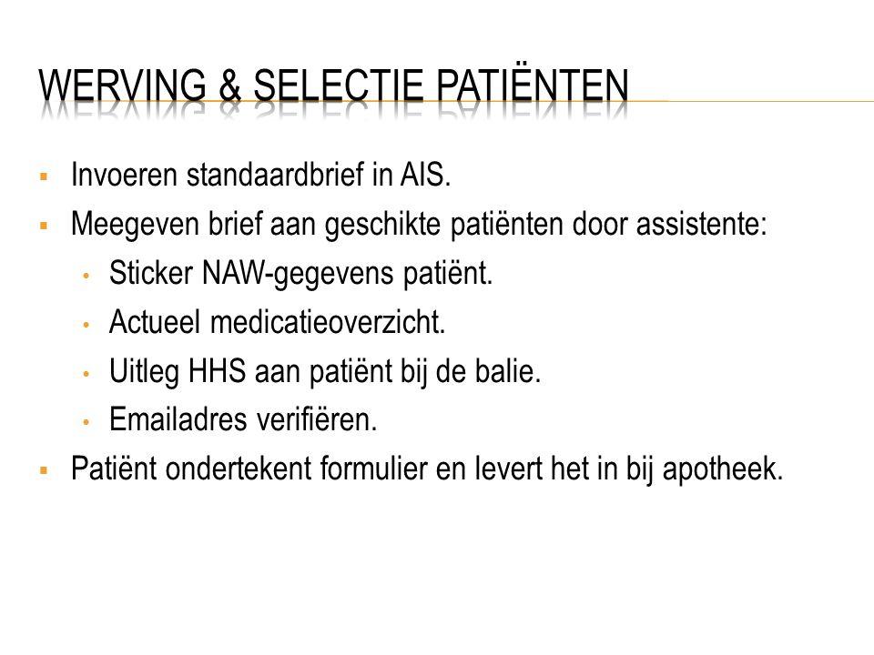  Invoeren standaardbrief in AIS.