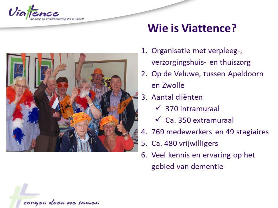 1.Organisatie met verpleeg-, verzorgingshuis- en thuiszorg 2.Op de Veluwe, tussen Apeldoorn en Zwolle 3.Aantal cliënten 370 intramuraal Ca. 350 extram