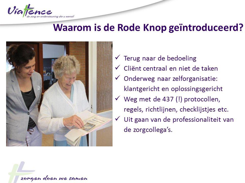De melding wordt gedaan aan de Raad van Bestuur De RvB heeft een B-team (bedoelingen-team) samengesteld om deze meldingen te onderzoeken Procedure Rode Knop