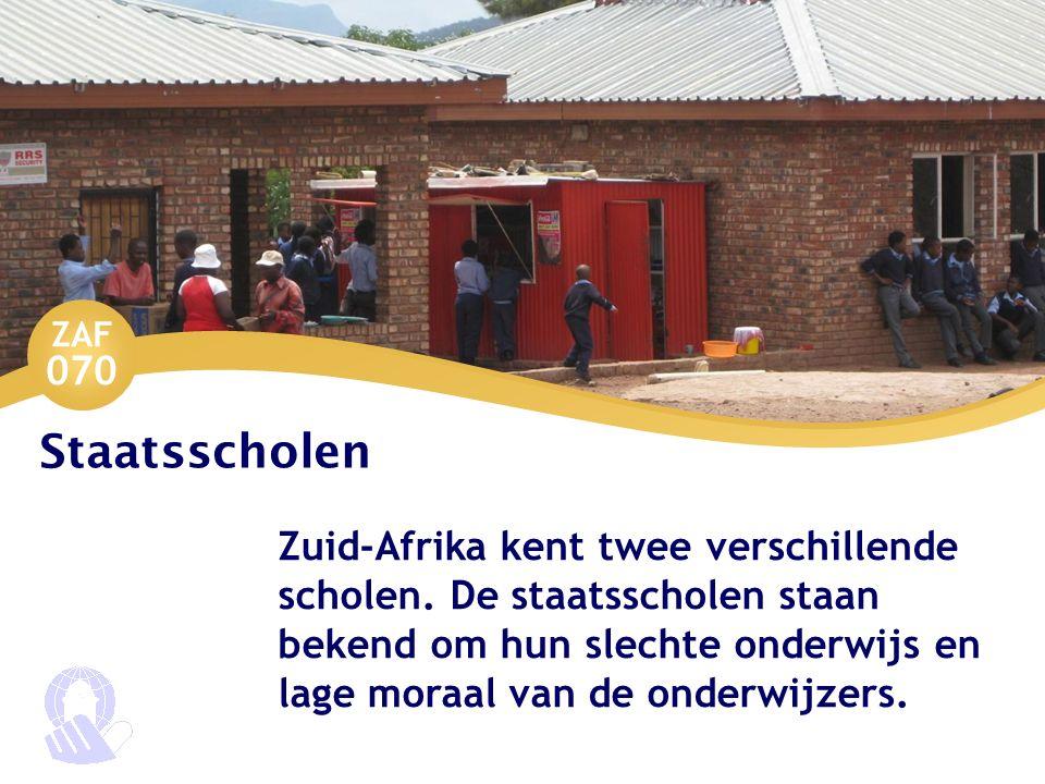 Staatsscholen Zuid-Afrika kent twee verschillende scholen.