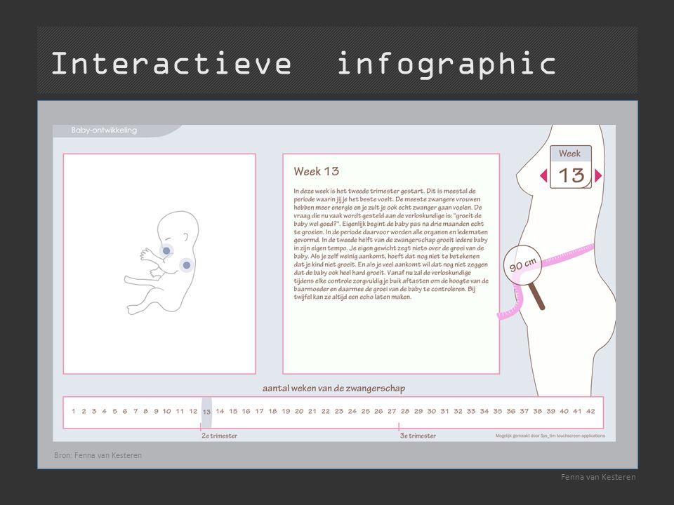 Interactieve infographic Fenna van Kesteren Bron: Fenna van Kesteren