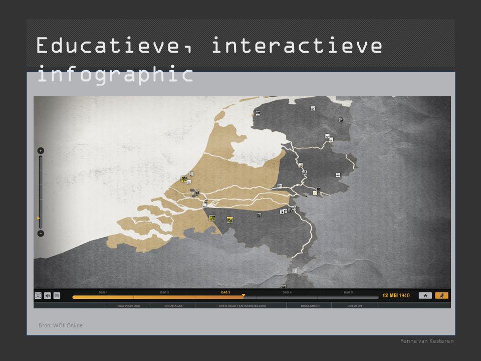 Educatieve, interactieve infographic Fenna van Kesteren Bron: WOII Online