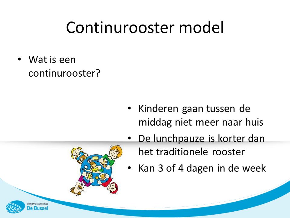Continurooster model Wat is een continurooster.