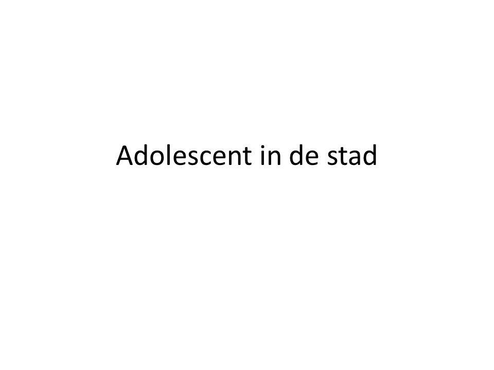 Adolescent in de stad