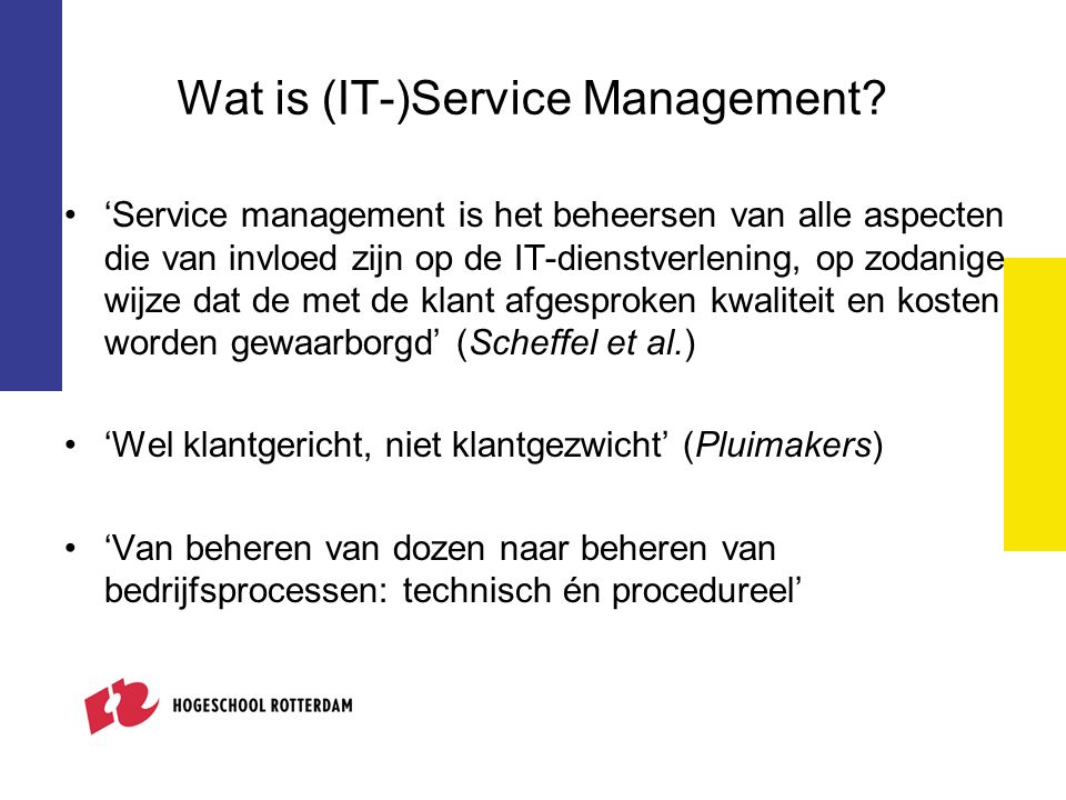Wat is (IT-)Service Management.