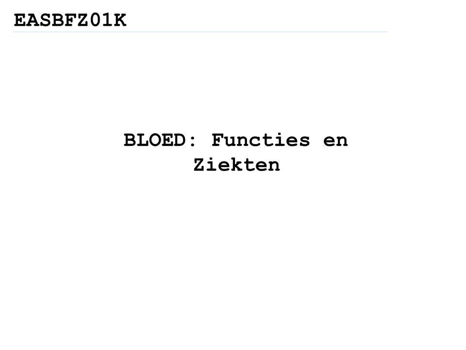 BLOED: Functies en Ziekten EASBFZ01K