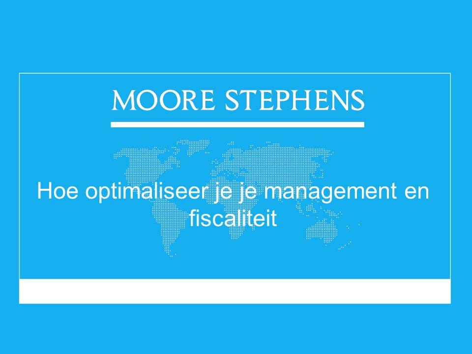 Hoe optimaliseer je je management en fiscaliteit