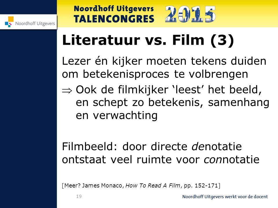 19 Literatuur vs.