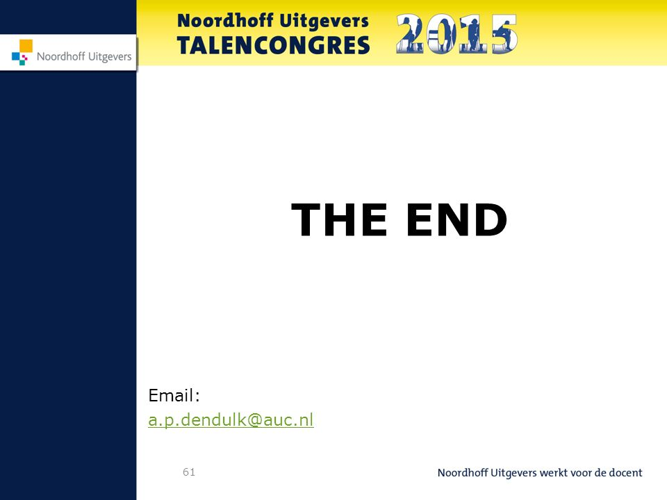 61 THE END Email: a.p.dendulk@auc.nl