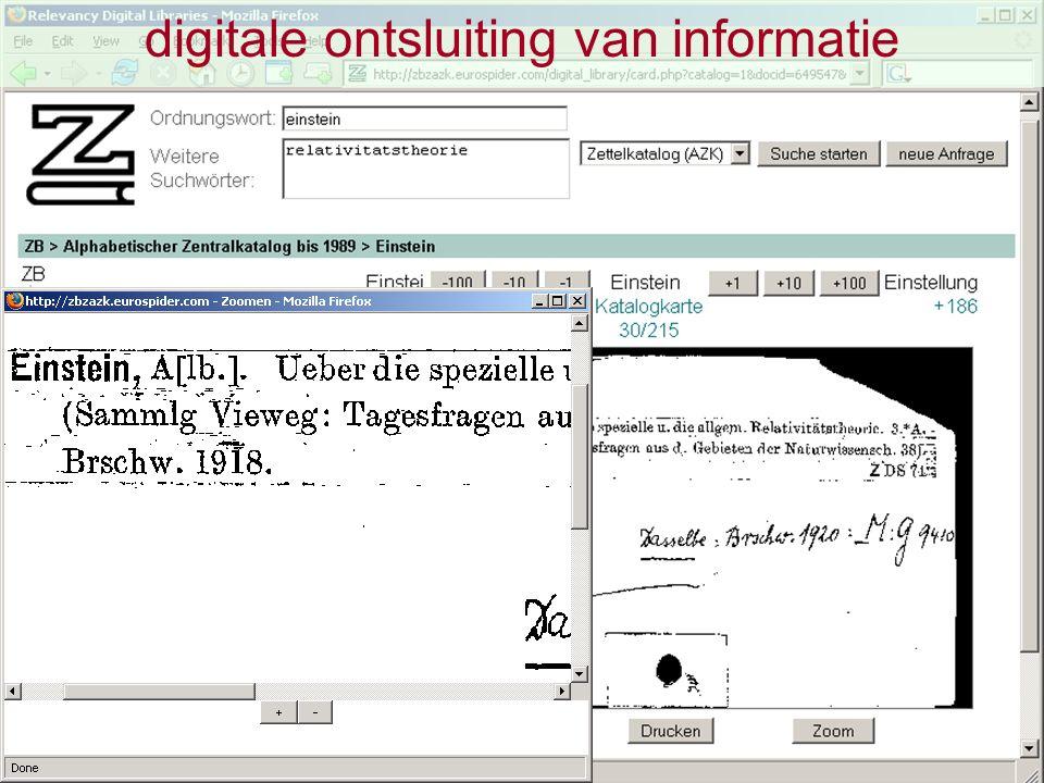 ontsluiting van digitale informatie