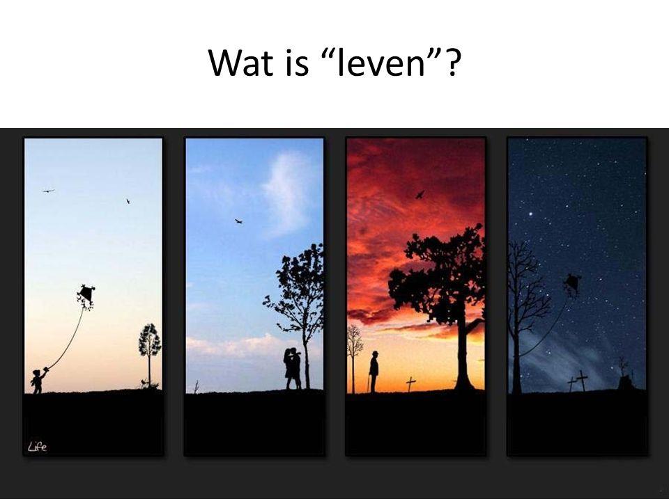 """Wat is """"leven""""?"""