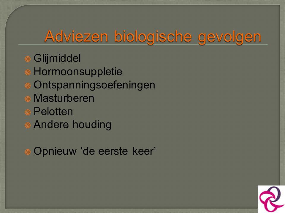  Glijmiddel  Hormoonsuppletie  Ontspanningsoefeningen  Masturberen  Pelotten  Andere houding  Opnieuw 'de eerste keer'