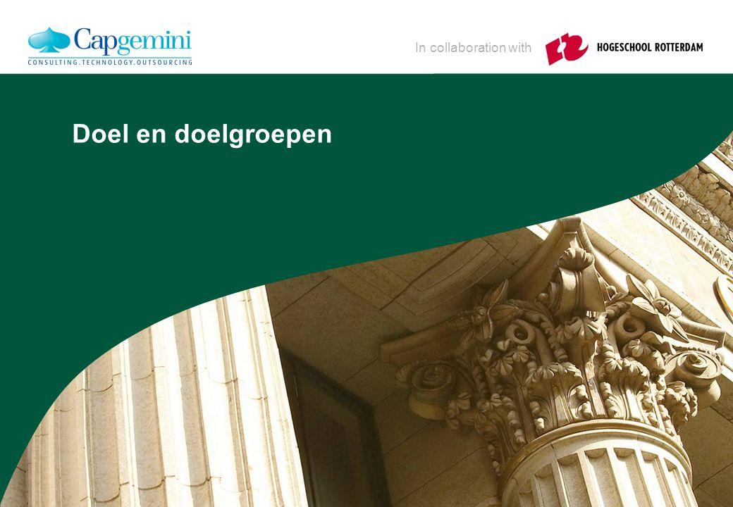 In collaboration with Doel en doelgroepen