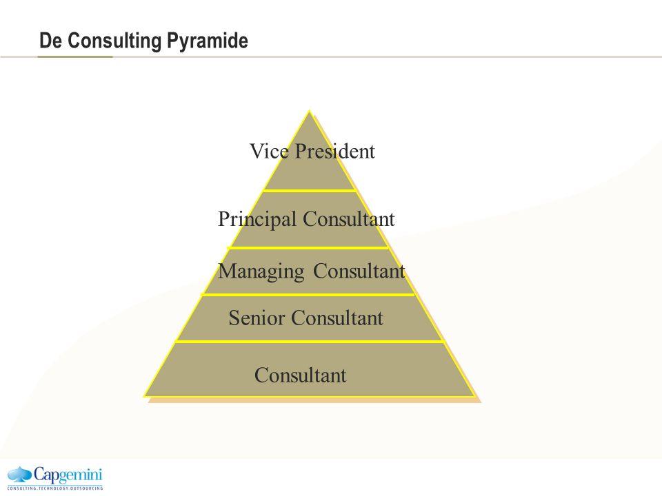 De Consulting Pyramide Consultant Vice President Senior Consultant Managing Consultant Principal Consultant