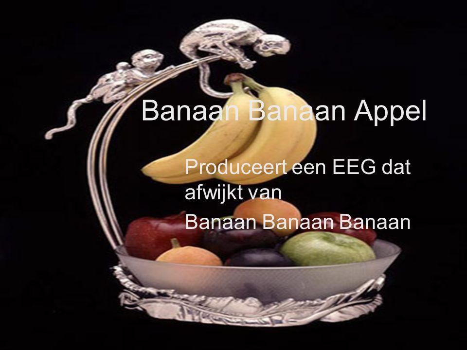 Banaan Appel Produceert een EEG dat afwijkt van Banaan