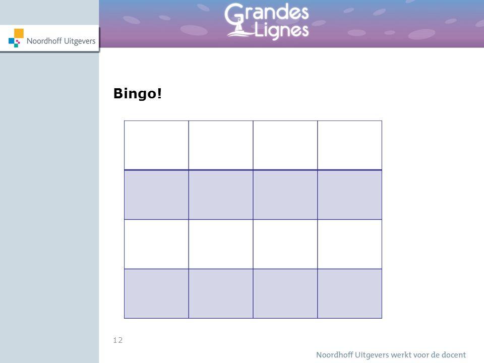 12 Bingo!