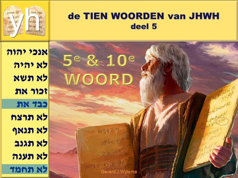 Gerard J.Wijtsma de TIEN WOORDEN van JHWH deel 5 Torah is een geschenk van JHWH Ringen en andere juwelen zijn geen geschenken, maar excuses voor geschenken.
