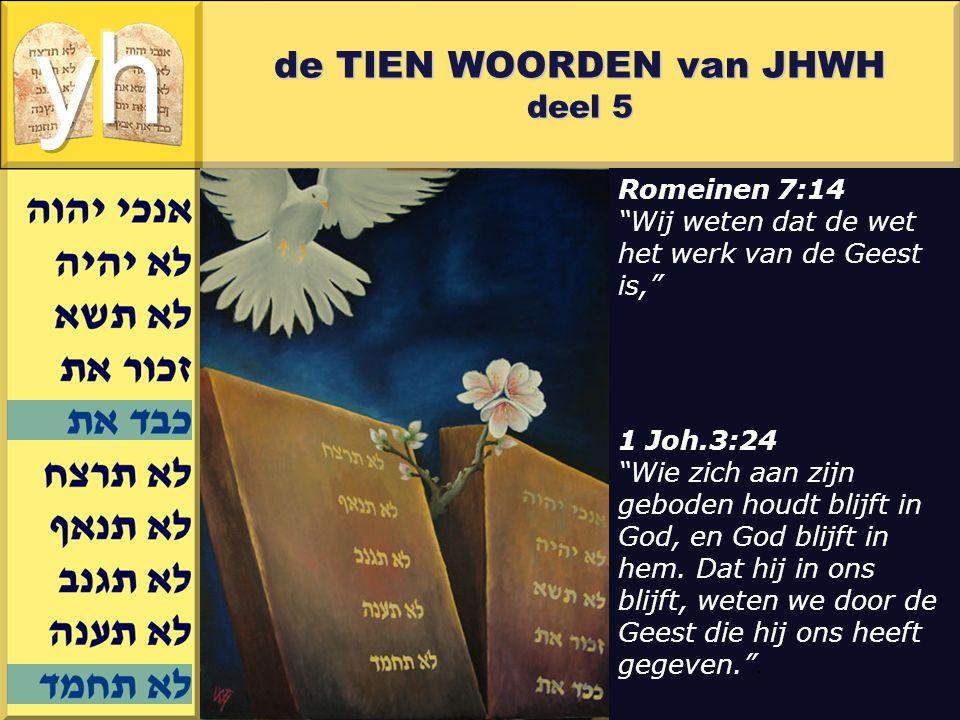 """Gerard J.Wijtsma de TIEN WOORDEN van JHWH deel 5 Romeinen 7:14 """"Wij weten dat de wet het werk van de Geest is,"""" 1 Joh.3:24 """"Wie zich aan zijn geboden"""