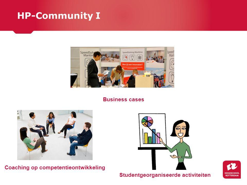 HP-Community I Business cases Studentgeorganiseerde activiteiten Coaching op competentieontwikkeling