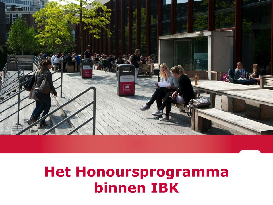 Het Honoursprogramma binnen IBK