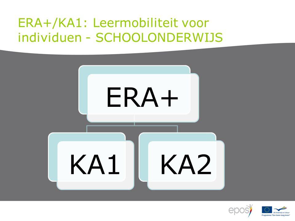 ERA+/KA1: Leermobiliteit voor individuen - SCHOOLONDERWIJS