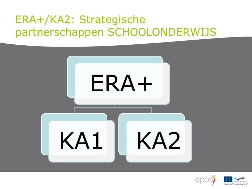 ERA+/KA2: Strategische partnerschappen SCHOOLONDERWIJS
