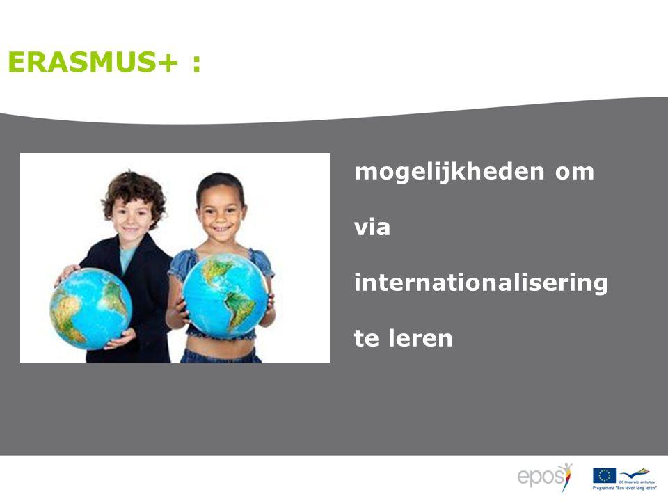 ERASMUS+ : mogelijkheden om via internationalisering te leren