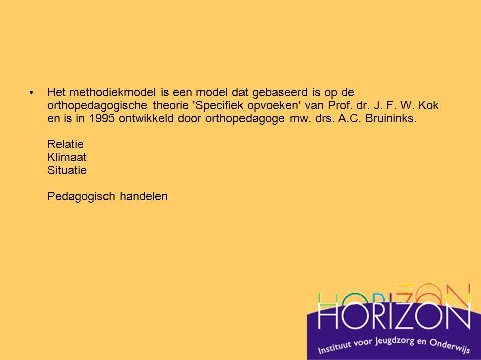 Het methodiekmodel is een model dat gebaseerd is op de orthopedagogische theorie 'Specifiek opvoeken' van Prof. dr. J. F. W. Kok en is in 1995 ontwikk