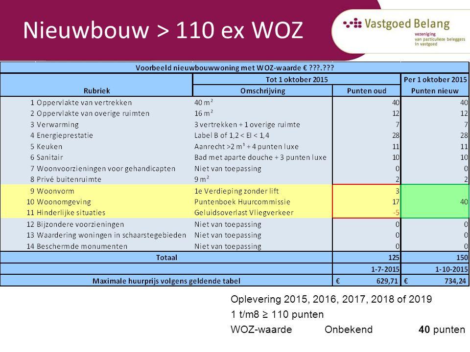 Nieuwbouw > 110 ex WOZ Wat komt in de plaats.