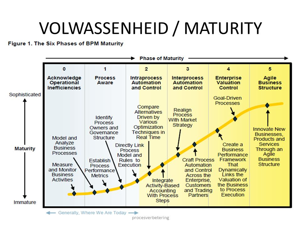 11-11-2013 IBKBPM013T - Methoden en technieken procesverbetering 14 VOLWASSENHEID / MATURITY