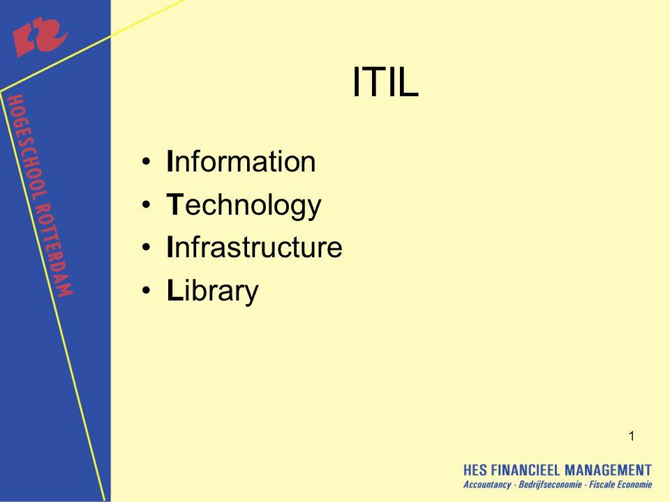 2 ITIL Is een methodiek voor de effectieve opzet en beheer van automatiseringsdiensten.
