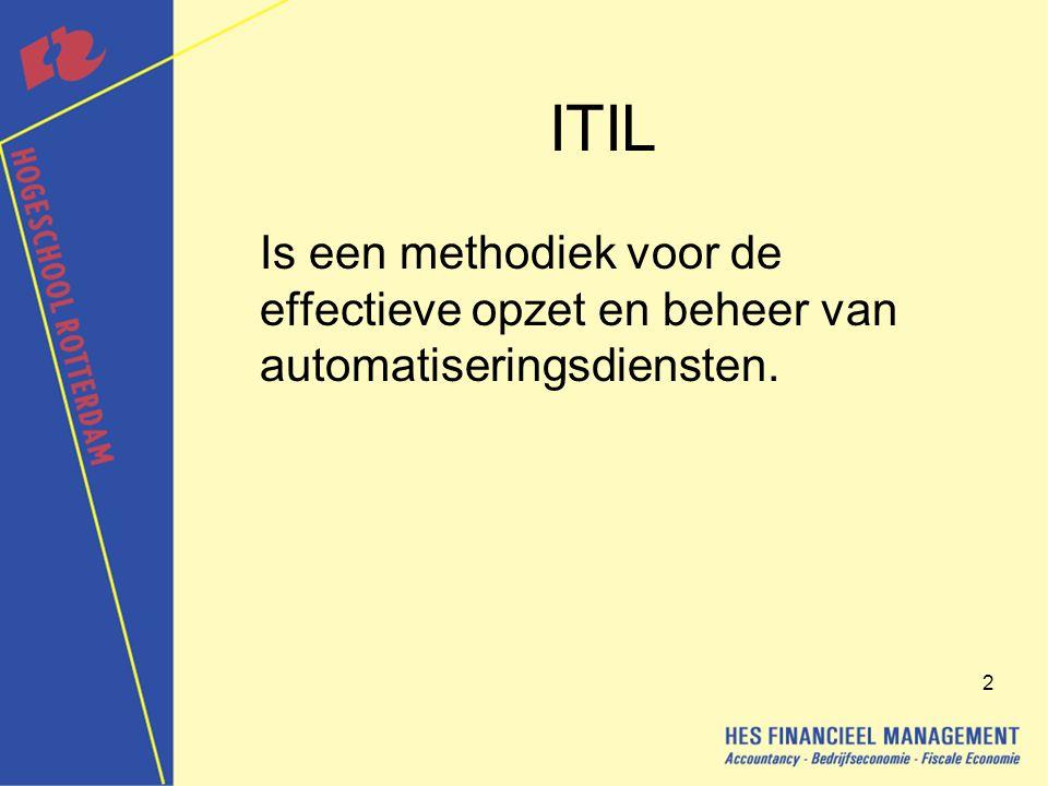 3 Het ontstaan van ITIL In de jaren tachtig automatiseerden veel bedrijven hun belangrijkste bedrijfsprocessen.
