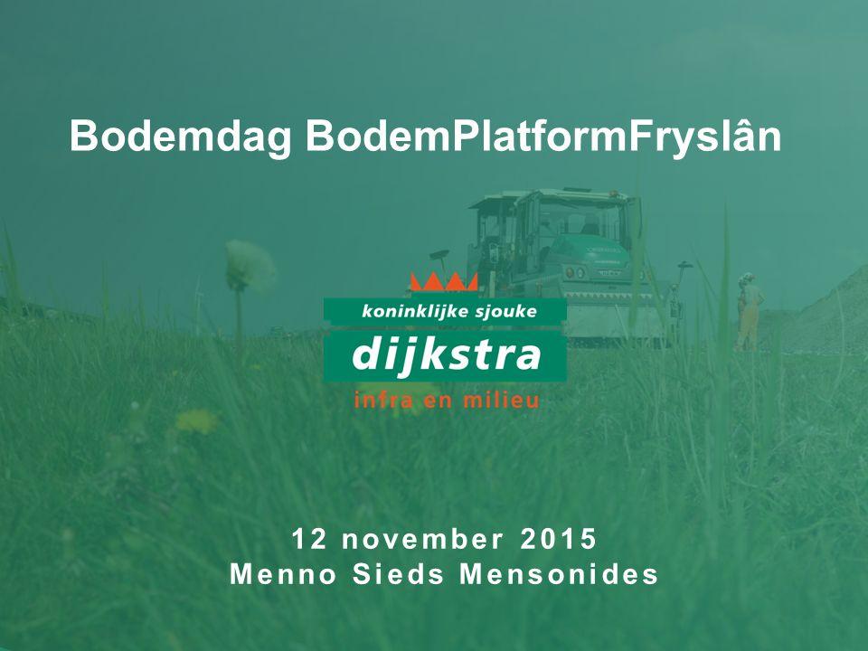 Bodemdag BodemPlatformFryslân 12 november 2015 Menno Sieds Mensonides